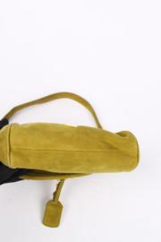 Prada Suede Clutch Bag - moss green