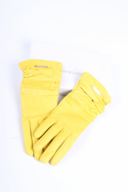 Versace Leather Gloves - yellow