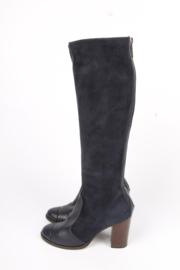 Chanel Knee High Boots - dark blue