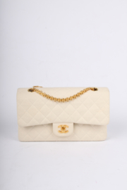 Chanel 2.55 Reissue Medium Double Flap Bag Jersey - ivory white