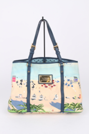 Louis Vuitton Limited Edition Blue Canvas Escale Ailleurs Cabas PM Beach Tote Bag