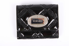 Versace Billfold Wallet Patent Leather - black