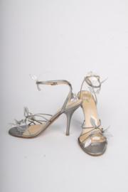 Prada High Heeled Sandalettes - silver