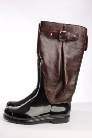 Dolce & Gabbana D&G Rain Boots - black/burgundy