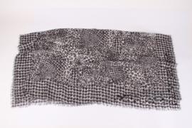 Salvatore Ferragamo Pied-de-Poule Sequin Scarf - black & white