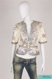 Frank Govers Sequin Jacket Vintage - silver/gray