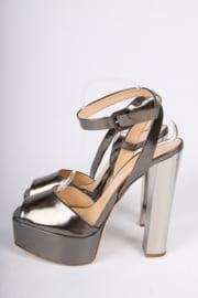 Giuseppe Zanotti High Heeled Peep-Toe Pumps - blackish silver