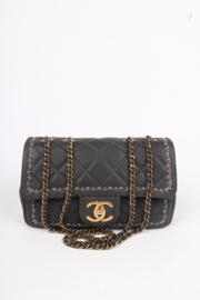 Chanel Classic Bag Feston Stitch - dark grey