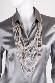 Brunello Cucinelli Necklace -agate/quartz