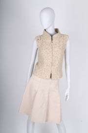 Chanel 2-pcs Suit Bodywarmer & Skirt - beige