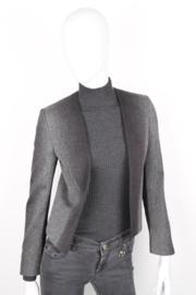 Gucci Grey White Speckle Open Buttonless Longesleeve Blazer