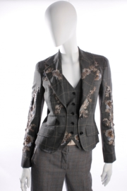 Dolce & Gabbana Jacket - checkered / sequins