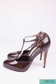 Brian Atwood Pumps - brown patent leather