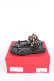 Valentino Free Rockstud Sandals - black