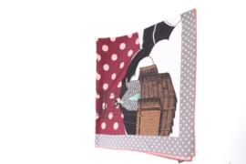 Louis Vuitton Cerise Carre Balloon Polkadot Silk Scarf