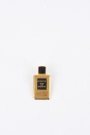 Chanel 1990's Gold-Plated Coco Eau De Toilette Enamel Perfume Bottle Sales Assistant Pin Brooch