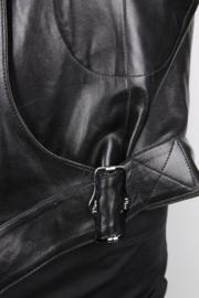 Christian Dior by John Galliano Black Leather Lambskin Belted Zipper Jacket