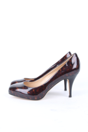 Giuseppe Zanotti Brown Patent Leather Tortoise Shell Heels Pumps