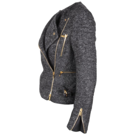 Gucci by Tom Ford asymmetrical tweed biker jacket