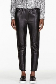 Phillip Lim Leather Jogger Pants - black