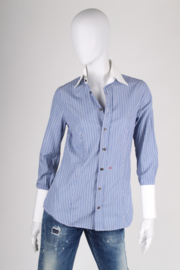 DSQUARED2 Striped Shirt - blue/black/white