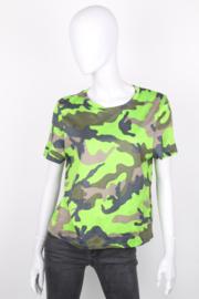 Valentino Green Camo Short-Sleeve Rockstud T-Shirt