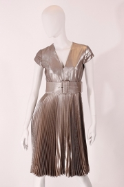 Boudicca jurk - metallic zilver/brons