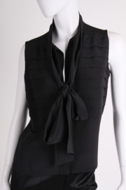 Chanel Silk Sleeveless Blouse - black