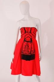 Dior strapless dress - rood/zwart