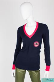 Chanel Pullover Cashmere - dark blue/pink