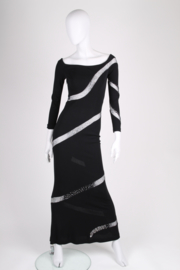 JIKI Vintage Evening Dress - black
