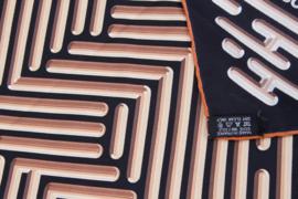 Hermes Silk Carre Scarf 'Parcours D'H' - black/beige