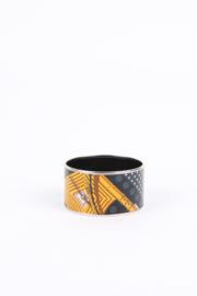 Hermès enamel printed mega wide 'Clic Clac A Pois' bracelet 70