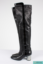 Chanel Overknee Boots Runway  2007 - black/silver