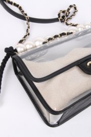Chanel See-Through Sand Flap Bag - black