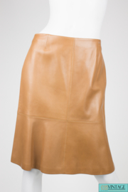 Chanel Leather Skirt - camel