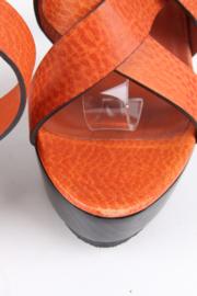 Gucci Strap Sandals - cognac
