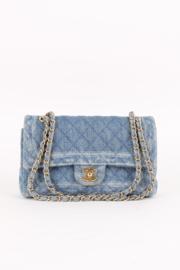 Chanel Classic Medium Denim Double Flap Bag