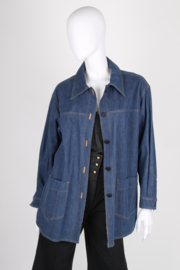 Chanel Oversized Denim Coat / Blouse - blue