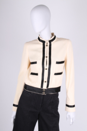Chanel Jacket - creamy white/black