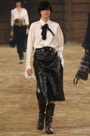 Chanel 'Paris Dallas' Fall/ Winter 2014 velvet leather western belt