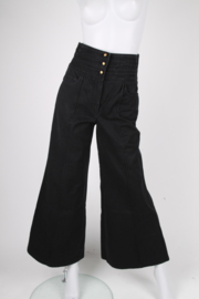 Chanel Bell Bottom Trousers - black