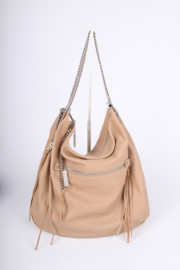 Christian Louboutin Chain Shoulder Bag - beige