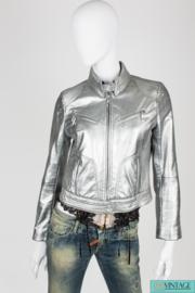 Escada Sport Leather Jacket - silver