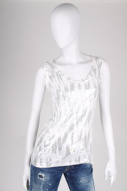 Diane von Furstenberg Singlet Top - white