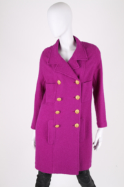 Chanel Boucle Coat - purple