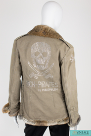 Philipp Plein Jacket - army green/brown fur