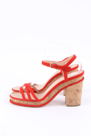 Chanel Cork Sandals - red