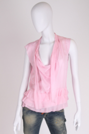Chanel Sheer Silk Blouse - pink