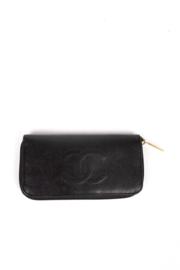 Chanel CC Zip Around Wallet - black